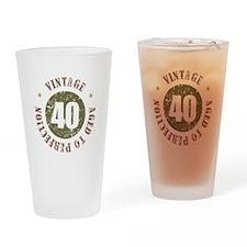40th Vintage birthday Drinking Glass
