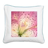 Flower Square Canvas Pillow