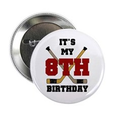 "Hockey 8th Birthday 2.25"" Button (10 pack)"