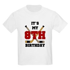 Hockey 8th Birthday Kids T-Shirt