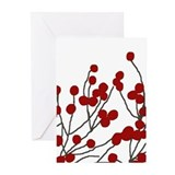 winterberries Greeting Cards (Pk of 20)
