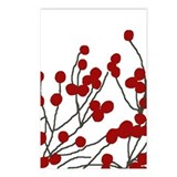 winterberries Postcards (Package of 8)