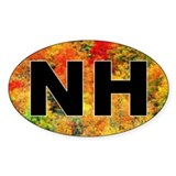 NH Foliage Oval Decal
