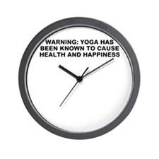 Yoga happiness Wall Clock