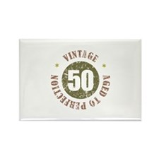 50th Vintage birthday Rectangle Magnet (100 pack)