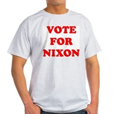 Vote For Nixon Ash Grey T-Shirt