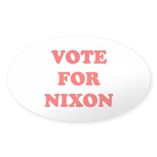 Vote For Nixon Oval Decal
