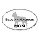 Belgian Malinois MOM Oval Decal