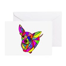 Colored Chihuahua Greeting Cards (Pk of 20)