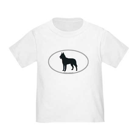 Belgian Malinois Silhouette Toddler T-Shirt