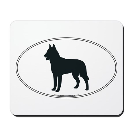 Belgian Malinois Silhouette Mousepad