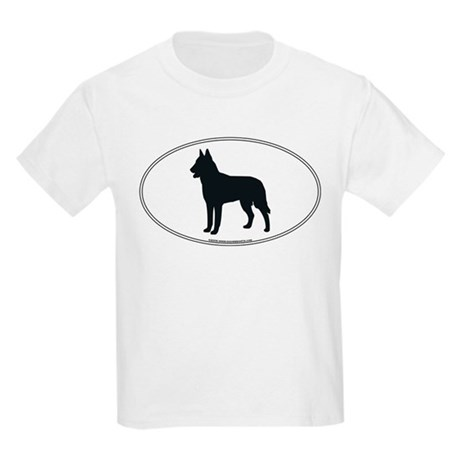 Belgian Malinois Silhouette Kids T-Shirt