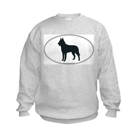 Belgian Malinois Silhouette Kids Sweatshirt