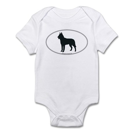 Belgian Malinois Silhouette Infant Creeper