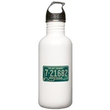 1974 Montana License Plate Water Bottle
