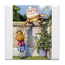 Alice and Humpty Dumpty Tile Coaster
