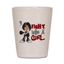 Fight Like a Girl 42.8 Skin Cancer Shot Glass