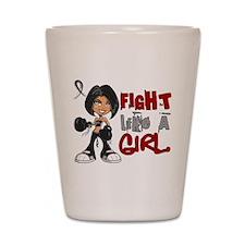 Licensed Fight Like a Girl 42.8 Skin Ca Shot Glass