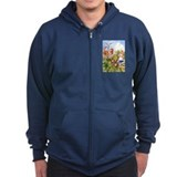 Alice and the Talking Flowers Zipped Hoodie