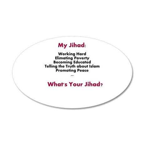 My Jihad 35x21 Oval Wall Decal