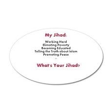 My Jihad 20x12 Oval Wall Decal