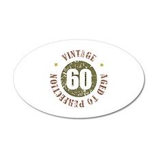 60th Vintage birthday 20x12 Oval Wall Decal