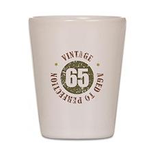 65th Vintage birthday Shot Glass