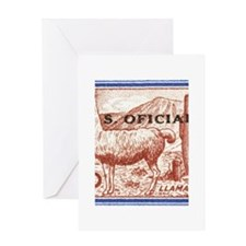 1961 Argentina Llama Postage Stamp Greeting Card