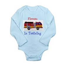 Fireman In Traing Long Sleeve Infant Bodysuit