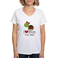 Personalized Valentine Turtle Shirt