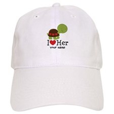 Personalized Valentine Turtle Baseball Cap