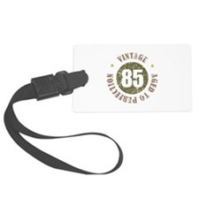 85th Vintage birthday Large Luggage Tag