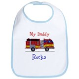 My Daddy Rocks Baby Bib