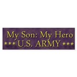 My Son: My Hero Bumper Sticker