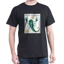 1999 Czech Republic Scorpio Postage Stamp T-Shirt