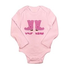 Personalized Cowgirl Long Sleeve Infant Bodysuit
