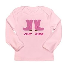 Personalized Cowgirl Long Sleeve Infant T-Shirt