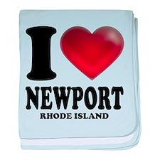 I Heart Newport baby blanket