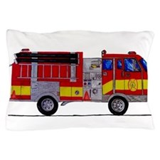 Fire Truck Pillow Case
