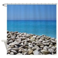 Ocean and Pebbles Shower Curtain