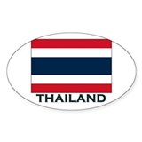 Thailand Flag Gear Oval Decal