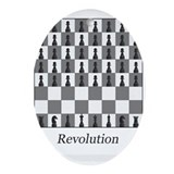 chess revolution Ornament (Oval)