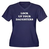 Lock Up Your Daughters Women's Plus Size V-Neck Da