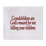 Cute Grandchildren Throw Blanket