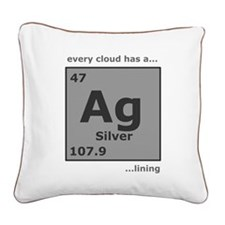silvertrans.png Square Canvas Pillow