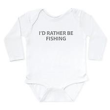 I'd Rather Be Fishing Onesie Romper Suit