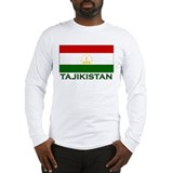 Flag of Tajikistan Long Sleeve T-Shirt