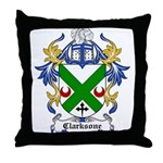 Clarksone Coat of Arms Throw Pillow