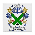 Clarksone Coat of Arms Tile Coaster