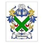 Clarksone Coat of Arms Small Poster
